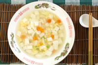 Mixed Vegetables and Tofu Soup