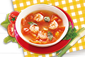 Tomato, Lemongrass and Shrimp Soup