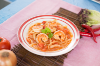 Prawn and Onion in Tomato Sauce