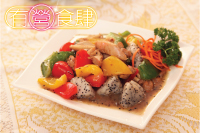 Stir-fried Chicken with Sweet Peppers and Dragon Fruit