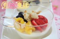 Almond Tofu with Fresh Fruit