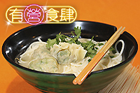 Coriander Dumpling with Rice Vermicelli in Broth